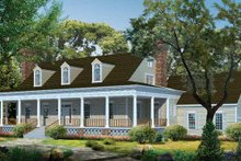 Classical Exterior - Front Elevation Plan #72-972