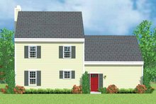 House Blueprint - Country Exterior - Rear Elevation Plan #72-1086
