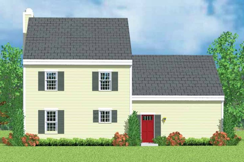 Country Exterior - Rear Elevation Plan #72-1086 - Houseplans.com