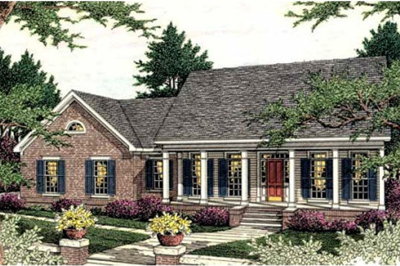 Dream House Plan - Traditional Exterior - Front Elevation Plan #406-286