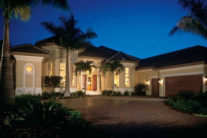 Mediterranean Exterior - Front Elevation Plan #930-189 - Houseplans.com