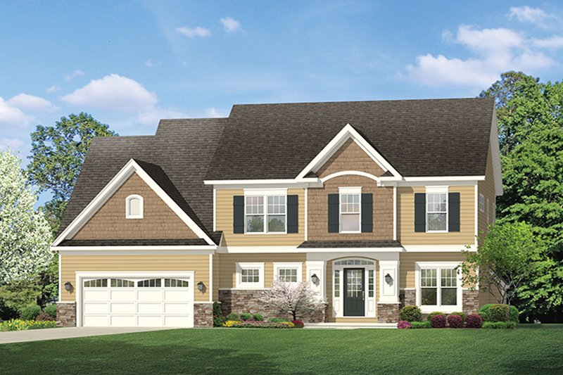 Architectural House Design - Colonial Exterior - Front Elevation Plan #1010-155