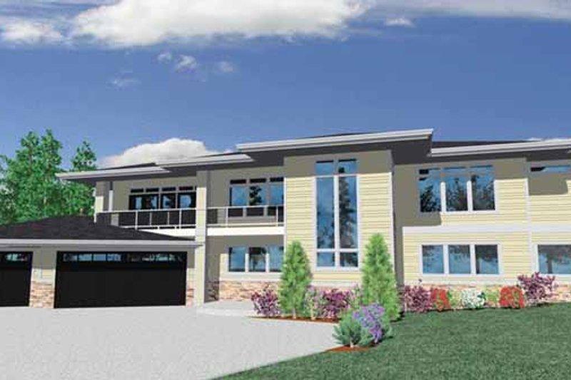 Prairie Exterior - Front Elevation Plan #509-418 - Houseplans.com