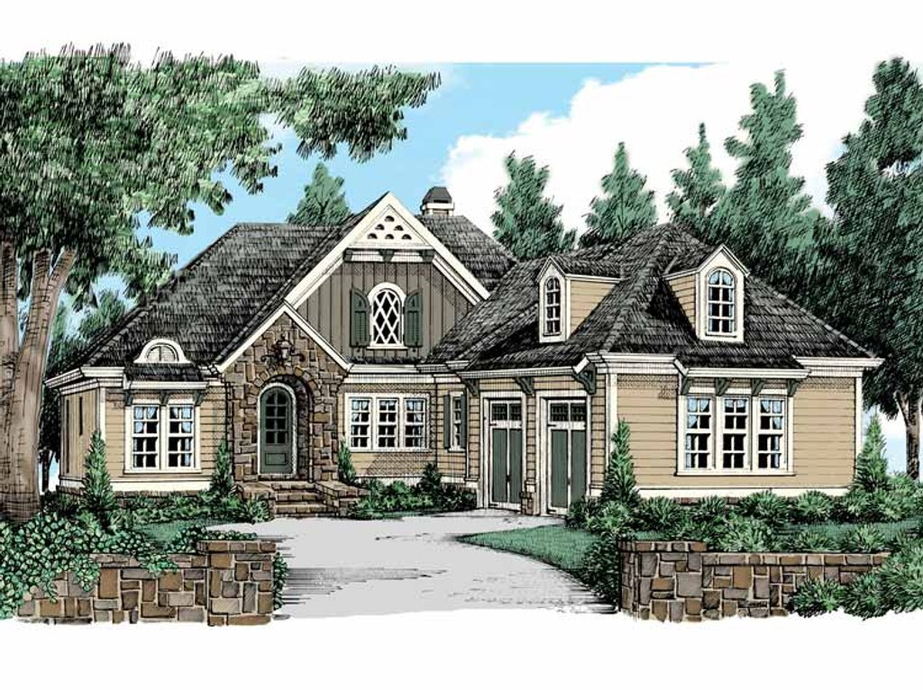 Tudor style house plan 3 beds 2 5 baths 2934 sq ft plan for Tudor house plans