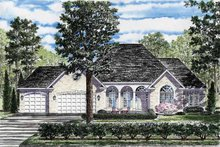 Ranch Exterior - Front Elevation Plan #316-233