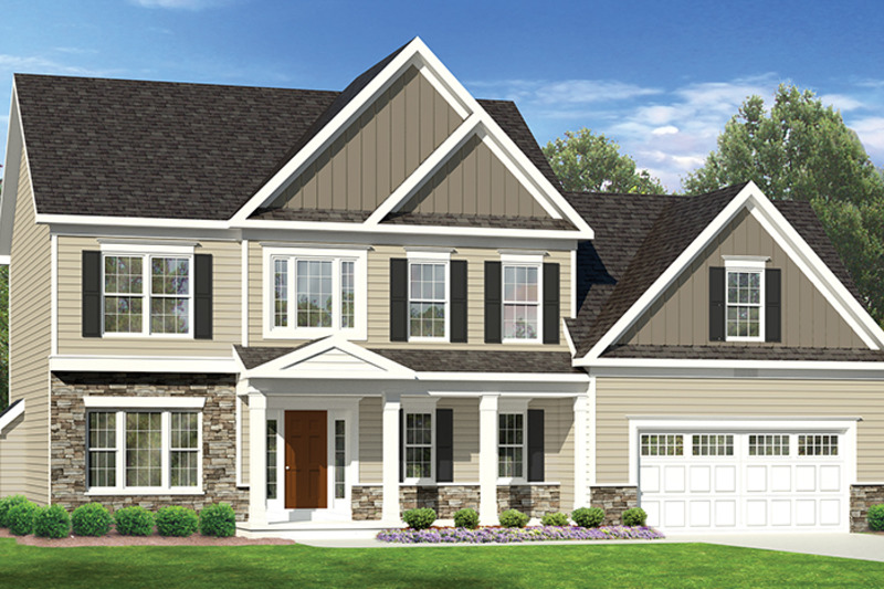 Colonial Exterior - Front Elevation Plan #1010-120