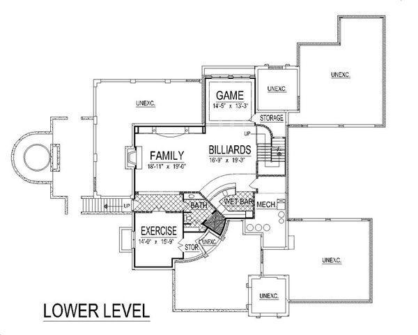 European Floor Plan - Lower Floor Plan #458-8
