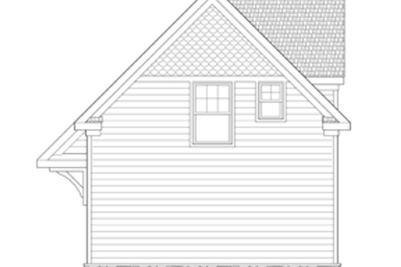 Craftsman Exterior - Rear Elevation Plan #1029-65 - Houseplans.com