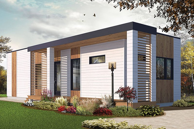 Home Plan - Contemporary Exterior - Other Elevation Plan #23-2602