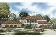 Mediterranean Exterior - Front Elevation Plan #17-3282