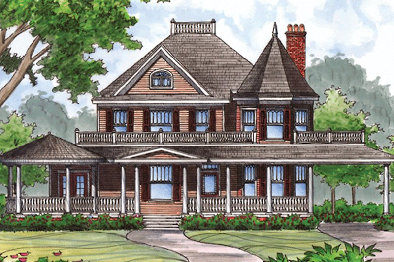 Victorian Exterior - Front Elevation Plan #417-791