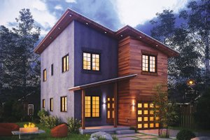 Home Plan Design - Contemporary Exterior - Front Elevation Plan #20-2320