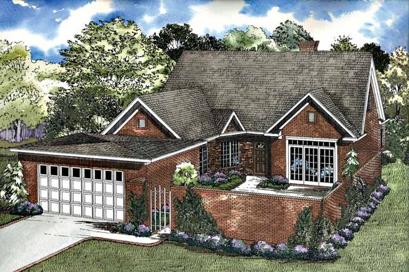 House Plan Design - Traditional Exterior - Front Elevation Plan #17-3174