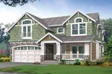 Dream House Plan - Craftsman Exterior - Front Elevation Plan #132-321