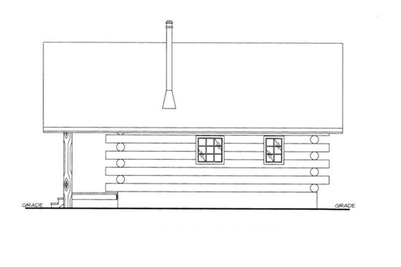 Log Exterior - Other Elevation Plan #117-828 - Houseplans.com
