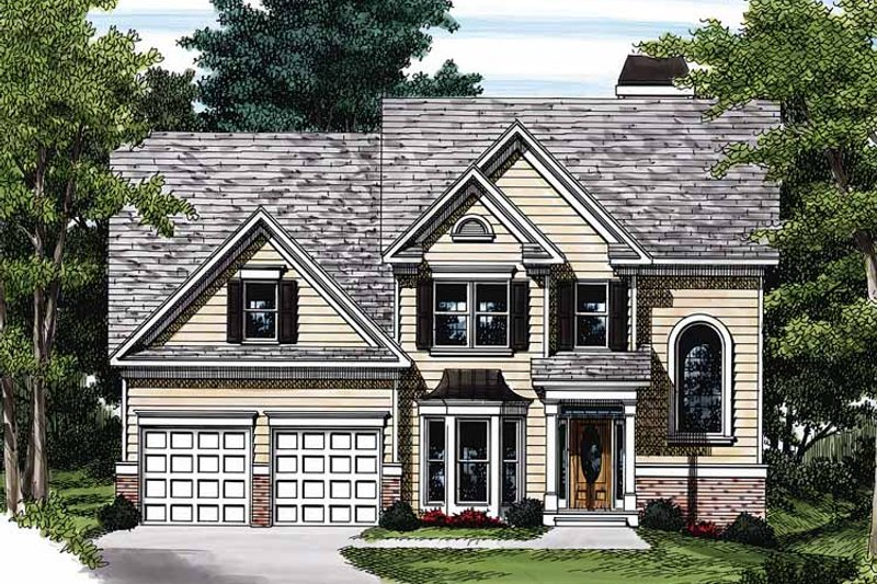 Colonial Exterior - Front Elevation Plan #927-91 - Houseplans.com