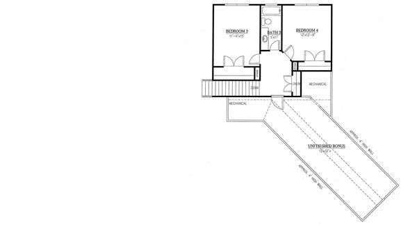 Traditional Floor Plan - Upper Floor Plan Plan #437-83