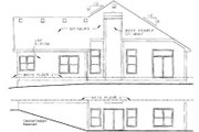 Craftsman Style House Plan - 2 Beds 2 Baths 1902 Sq/Ft Plan #20-127 Exterior - Rear Elevation