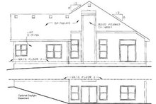 Craftsman Exterior - Rear Elevation Plan #20-127