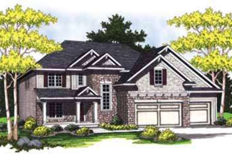 Traditional Style House Plan - 4 Beds 2.5 Baths 2440 Sq/Ft Plan #70-843 Photo