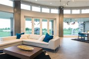 Modern Style House Plan - 5 Beds 4 Baths 5716 Sq/Ft Plan #920-18 Interior - Family Room