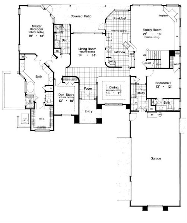 European Floor Plan - Main Floor Plan Plan #417-364