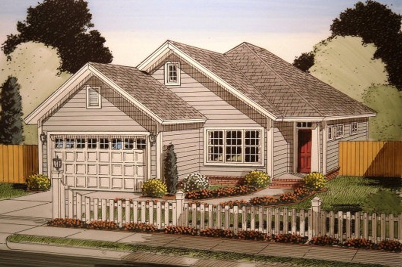 Traditional Style House Plan - 3 Beds 2 Baths 1545 Sq/Ft Plan #513-15 Exterior - Front Elevation