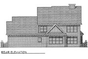 Traditional Style House Plan - 3 Beds 2.5 Baths 2717 Sq/Ft Plan #70-433 Exterior - Rear Elevation