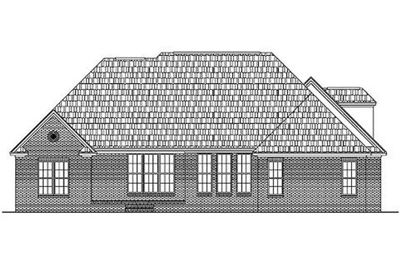 European Exterior - Rear Elevation Plan #430-31 - Houseplans.com