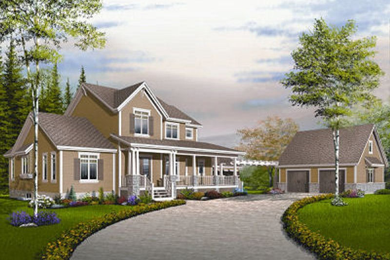 Dream House Plan - Farmhouse Exterior - Front Elevation Plan #23-830