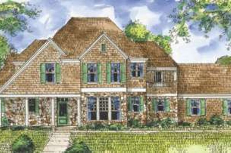 European Exterior - Front Elevation Plan #410-347