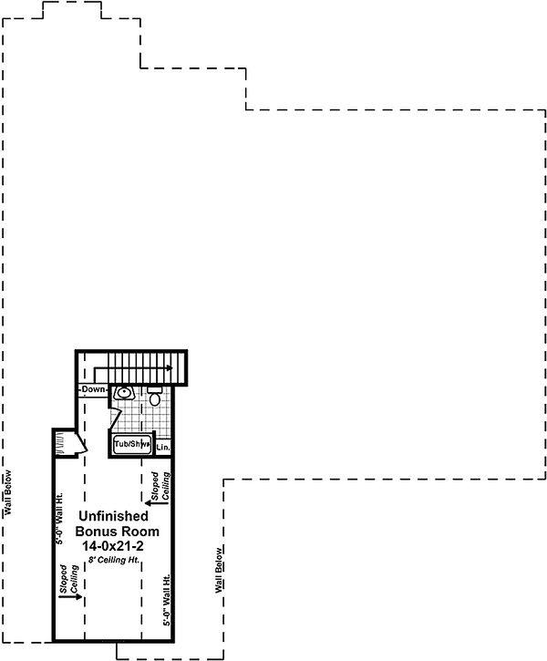 Country Floor Plan - Upper Floor Plan Plan #21-379