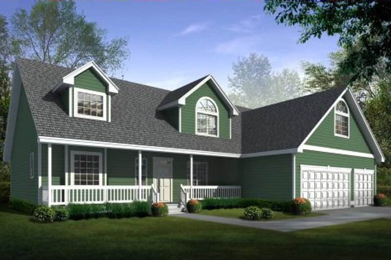 Traditional Exterior - Front Elevation Plan #98-212 - Houseplans.com