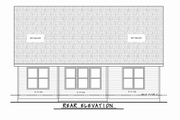 Craftsman Style House Plan - 3 Beds 2 Baths 1878 Sq/Ft Plan #20-2348 Exterior - Rear Elevation