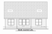 Craftsman Exterior - Rear Elevation Plan #20-2348