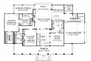 Farmhouse Style House Plan - 4 Beds 3.5 Baths 4227 Sq/Ft Plan #137-282 Floor Plan - Main Floor