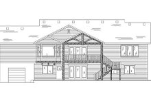 Home Plan - Traditional Exterior - Rear Elevation Plan #5-245