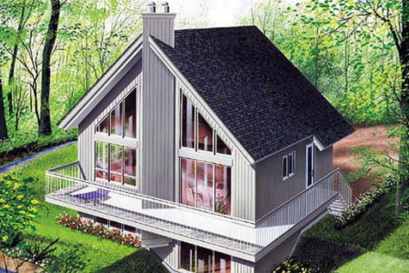 Modern Exterior - Front Elevation Plan #23-2023