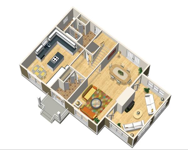 Colonial Floor Plan - Main Floor Plan Plan #25-4679