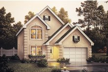 Dream House Plan - European Exterior - Front Elevation Plan #57-134