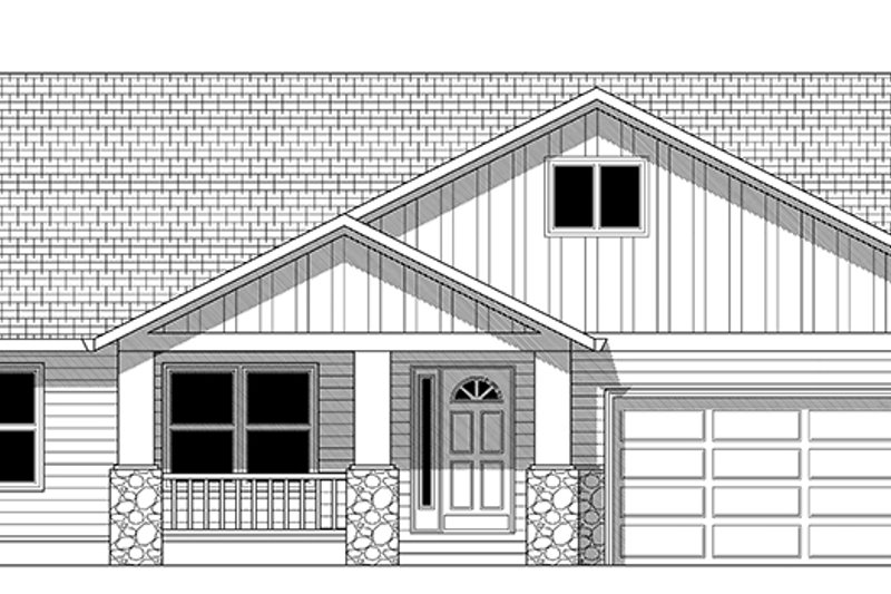 Craftsman Exterior - Front Elevation Plan #943-43 - Houseplans.com