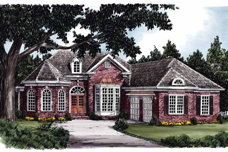 European Exterior - Front Elevation Plan #927-592