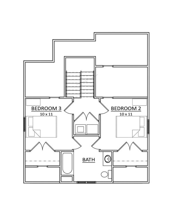 Craftsman Floor Plan - Upper Floor Plan Plan #936-6