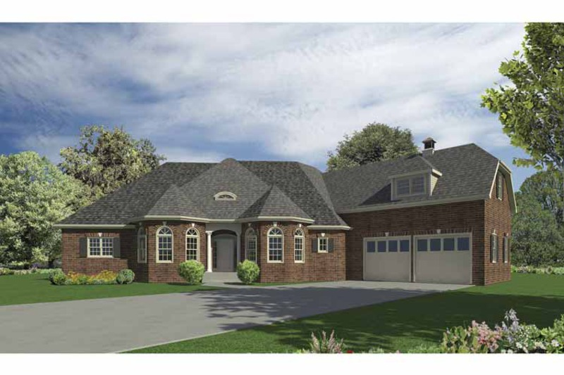 European Exterior - Front Elevation Plan #437-68 - Houseplans.com