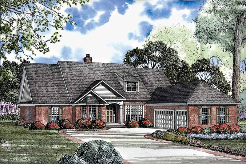 Country Exterior - Front Elevation Plan #17-2941