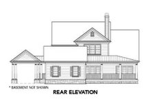 Dream House Plan - Country Exterior - Rear Elevation Plan #429-46
