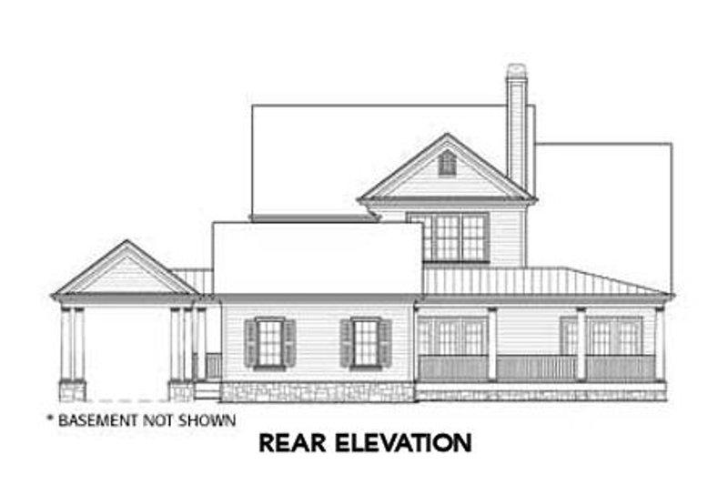 Country Exterior - Rear Elevation Plan #429-46 - Houseplans.com