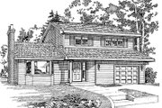 Traditional Style House Plan - 3 Beds 1.5 Baths 1534 Sq/Ft Plan #47-397 Exterior - Front Elevation