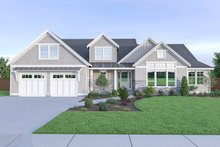 Dream House Plan - Craftsman Exterior - Front Elevation Plan #1070-43