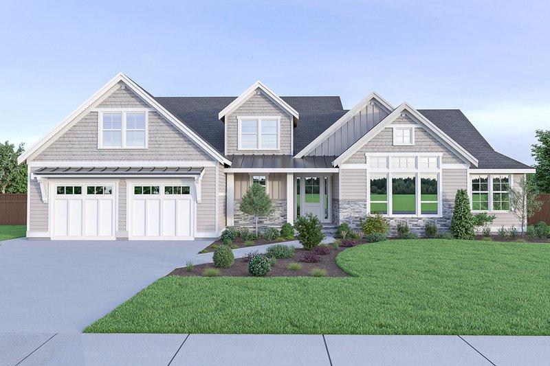 House Plan Design - Craftsman Exterior - Front Elevation Plan #1070-43